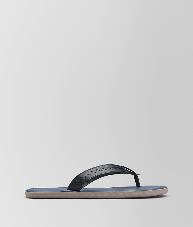 BOTTEGA VENETA DARK NAVY CALF PLAGE THONG Sandals Man fp