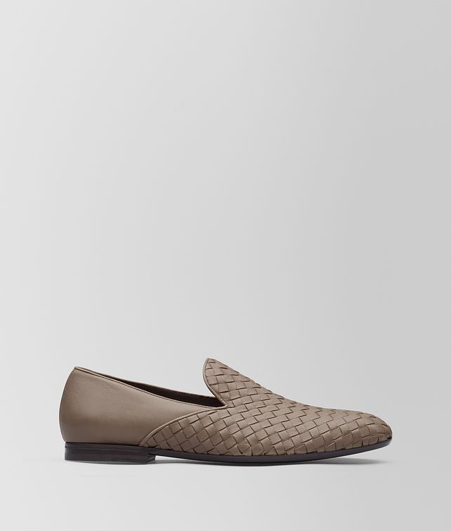 BOTTEGA VENETA LIMESTONE INTRECCIATO CALF FIANDRA MID SLIPPER Mocassin or Slipper Man fp