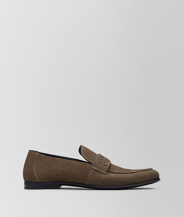 BOTTEGA VENETA STEEL SUEDE BV SUNDAY MOCASSIN Slippers and Loafers [*** pickupInStoreShippingNotGuaranteed_info ***] fp