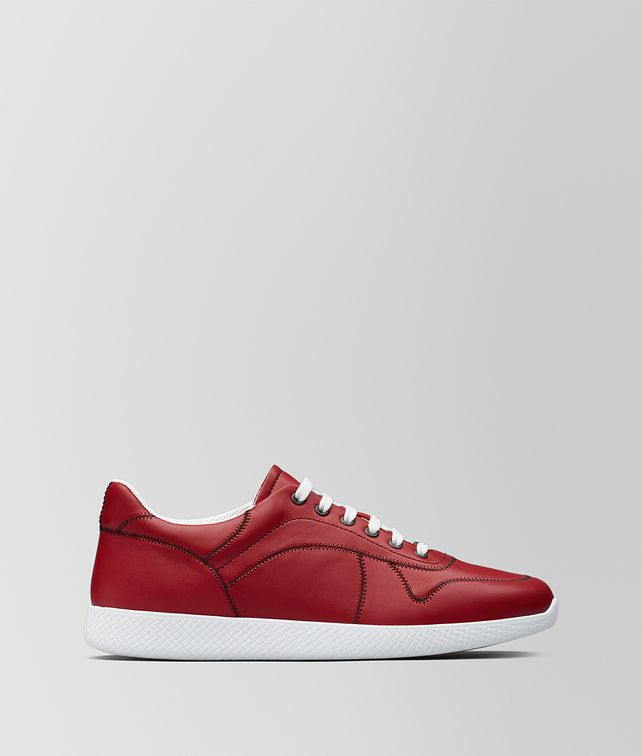 BOTTEGA VENETA BV LITHE SNEAKER AUS KALBSLEDER IN CHINA RED Sneaker Herren fp