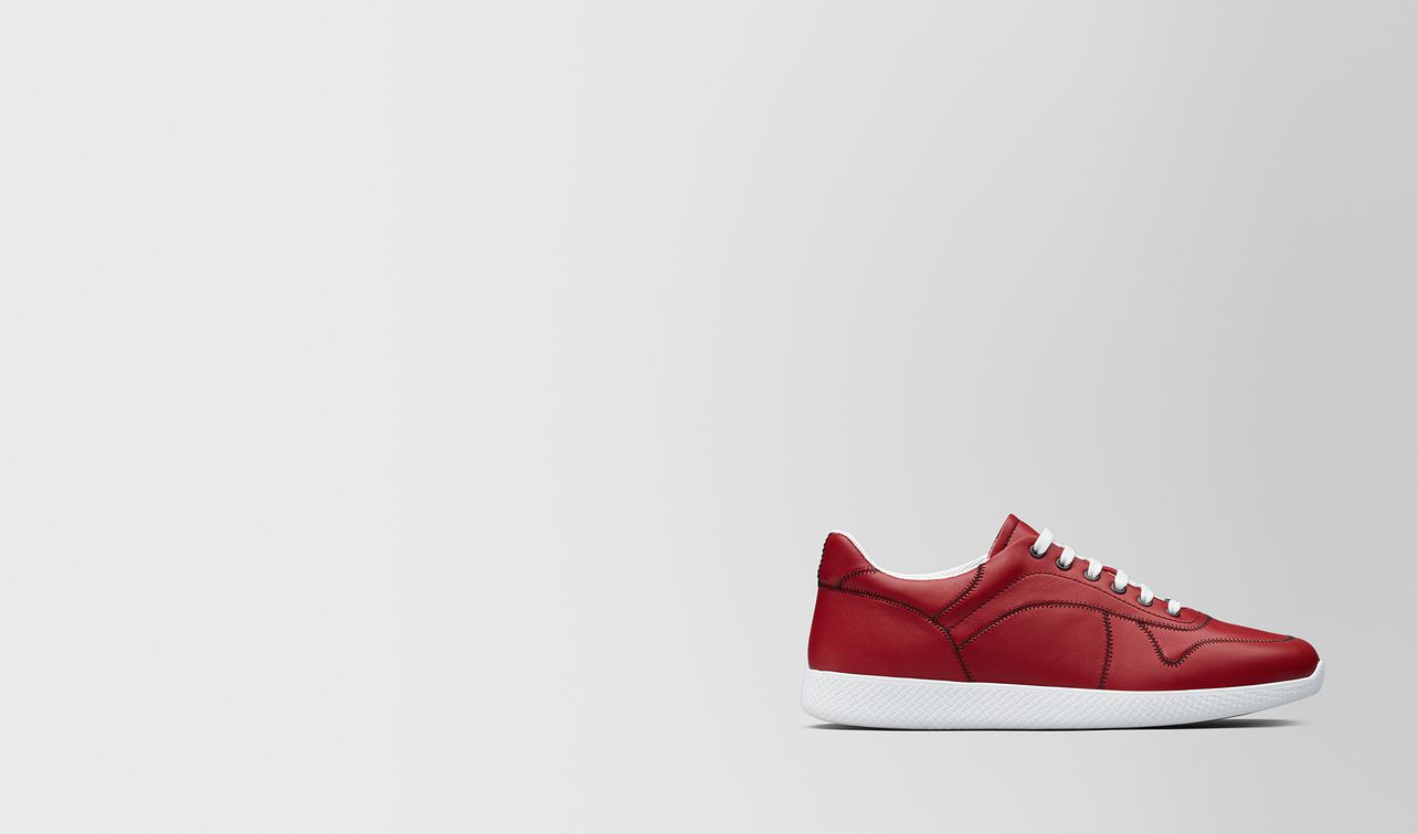 china red calf bv lithe sneaker landing