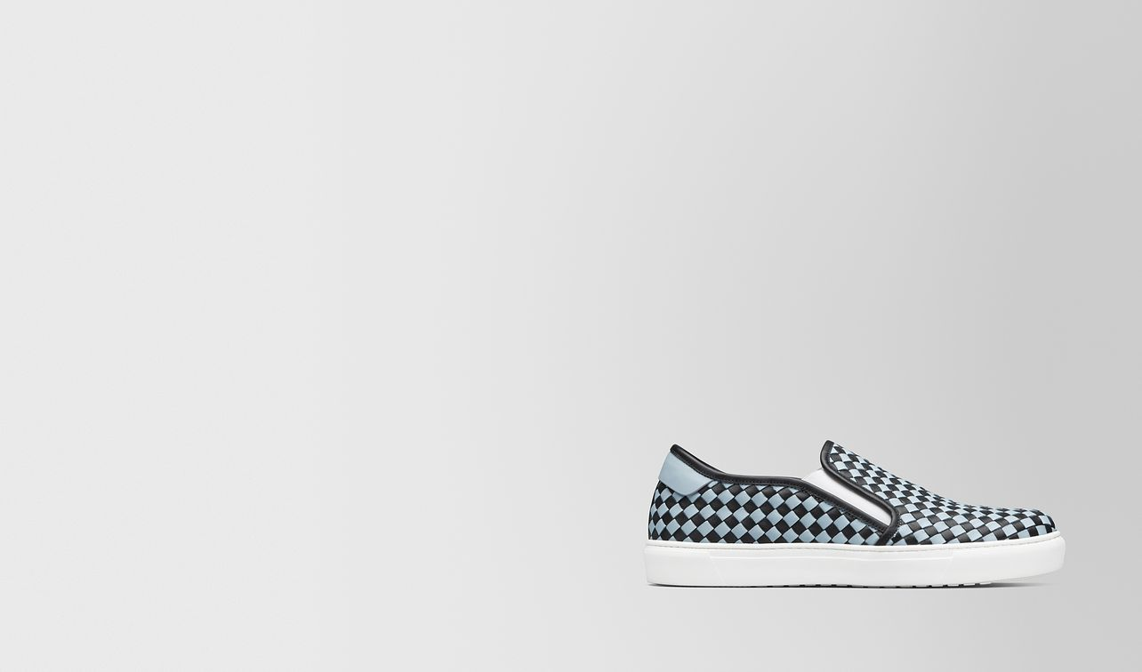 nero/arctic calf bv checker slip-on landing