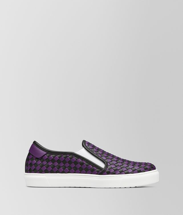 BOTTEGA VENETA NERO/MONALISA CALF BV CHECKER SLIP-ON Trainers Man fp