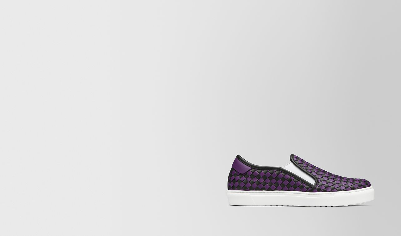 slip-on bv checker in vitello nero/monalisa landing