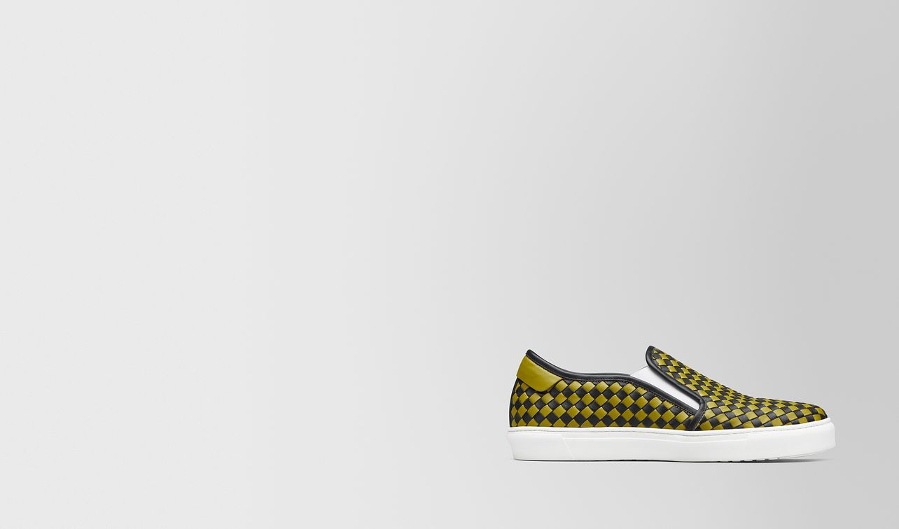 nero/chamomile calf bv checker slip-on landing