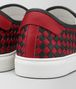 BOTTEGA VENETA NERO/CHINA RED CALF BV CHECKER SLIP-ON Trainers Man ap