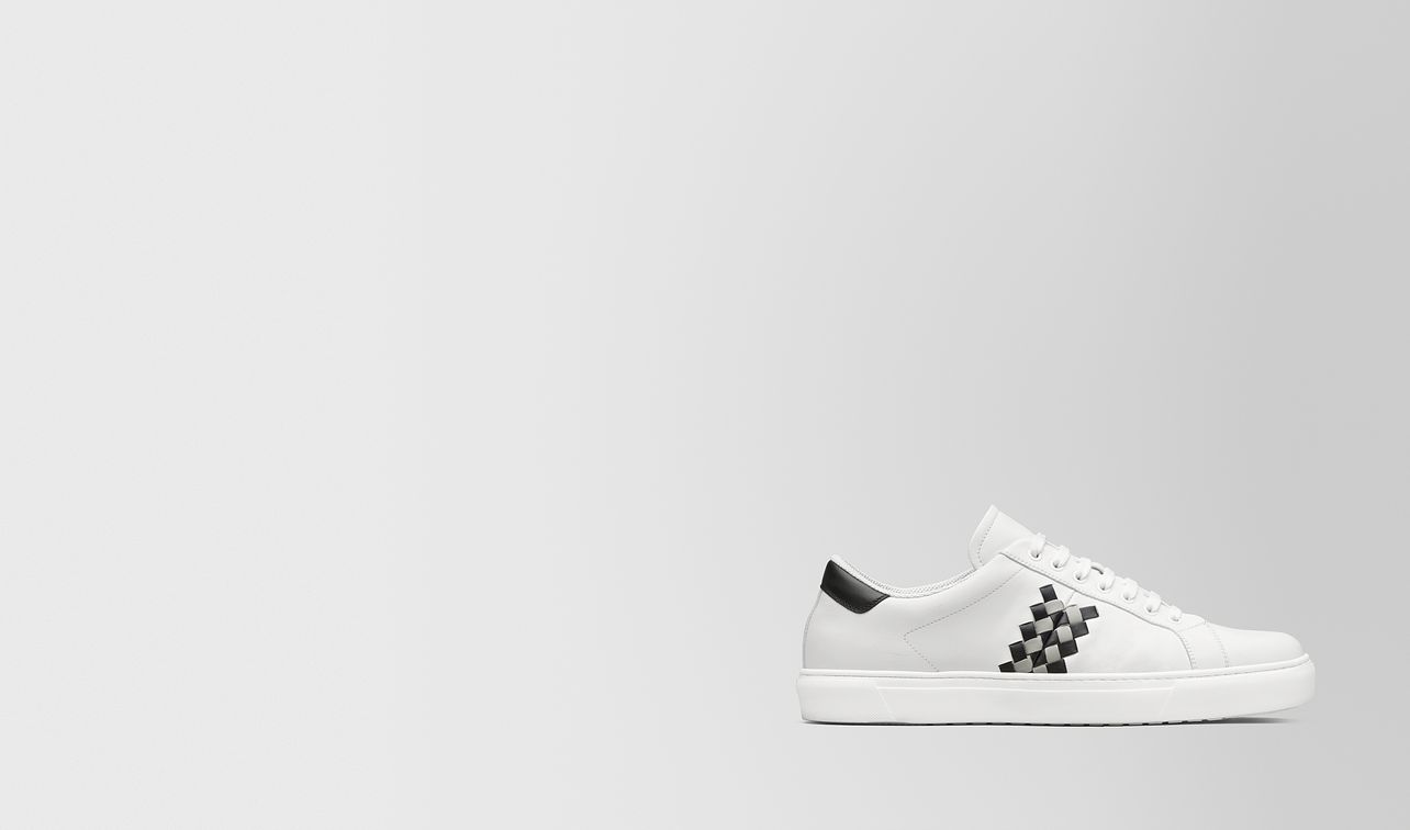 bv chequer sneaker in calf leather  landing