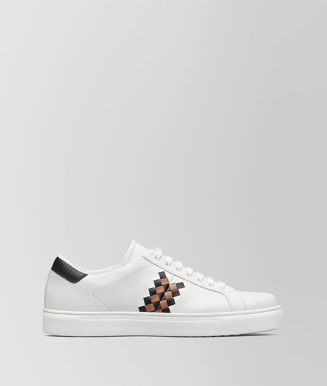 BOTTEGA VENETA BIANCO/DAHLIA CALF BV CHECKER SNEAKER Trainers [*** pickupInStoreShippingNotGuaranteed_info ***] fp