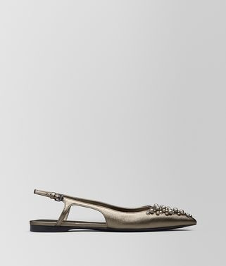 BALLERINE IN NAPPA ARGENTO ANTIQUE