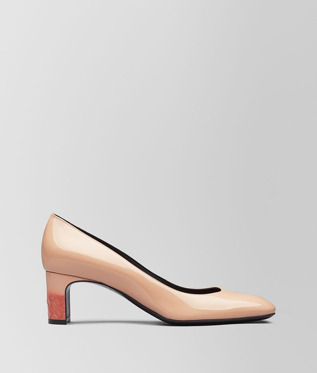 BOTTEGA VENETA PEACH ROSE PATENT CALF ISABELLA PUMP Pump [*** pickupInStoreShipping_info ***] fp