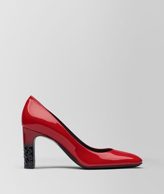 CHINA RED PATENT CALF ISABELLA PUMP