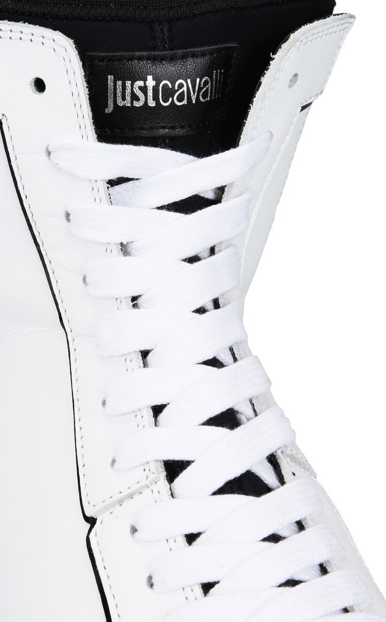 JUST CAVALLI High-top sneaker with stretch panel Sneakers Man e