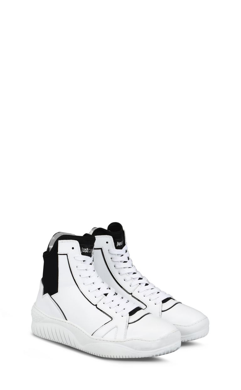 JUST CAVALLI High-top sneaker with stretch panel Sneakers Man r