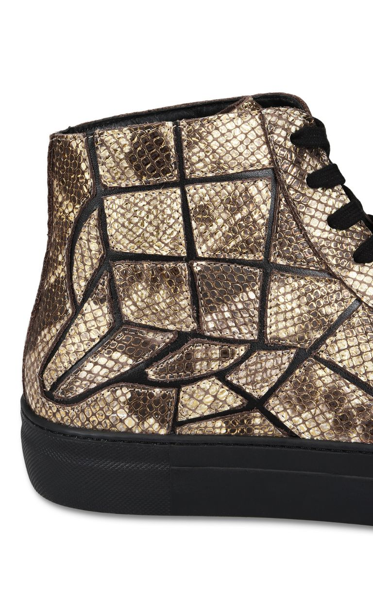JUST CAVALLI Python-effect high-top sneaker Sneakers Man e