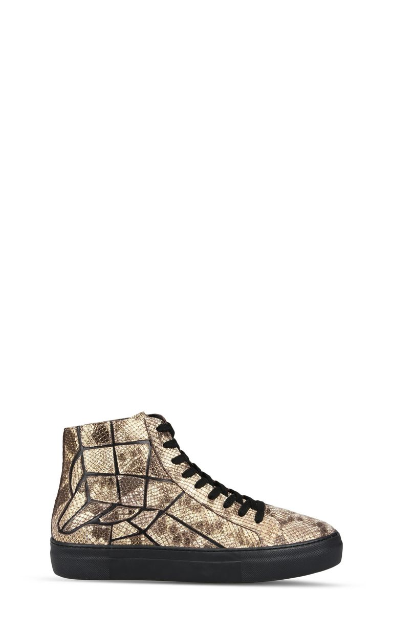 JUST CAVALLI Python-effect high-top sneaker Sneakers Man f