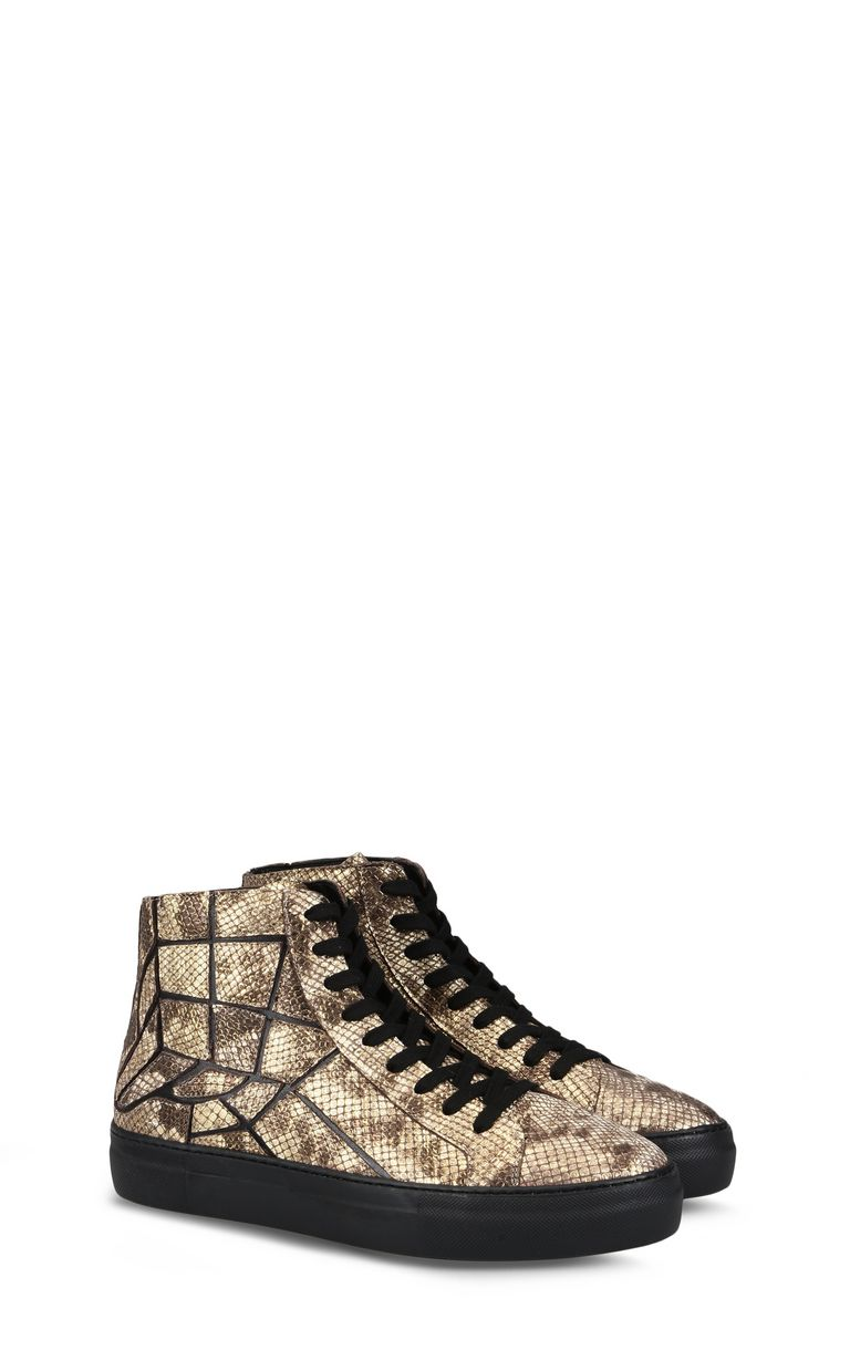 JUST CAVALLI Python-effect high-top sneaker Sneakers Man r