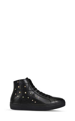 High-top sneaker with studs