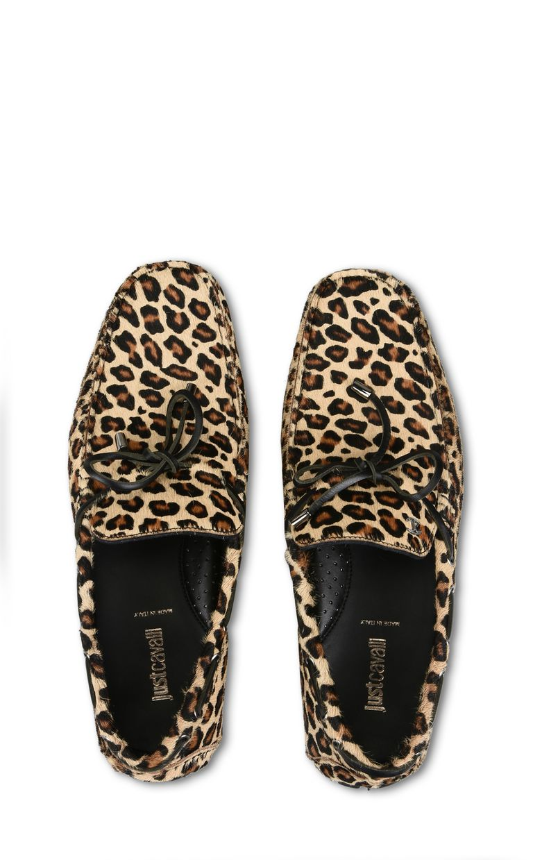 JUST CAVALLI Leopard-print loafer Moccassins Man d