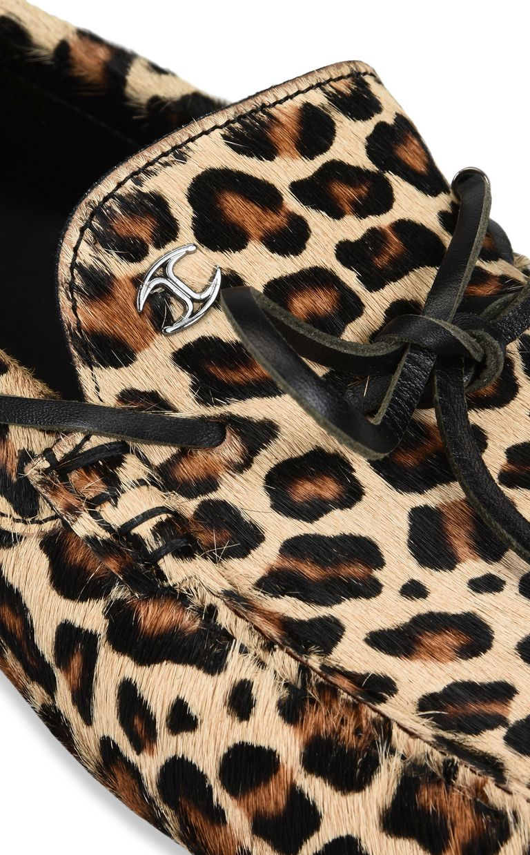 JUST CAVALLI Leopard-print loafer Moccassins Man e
