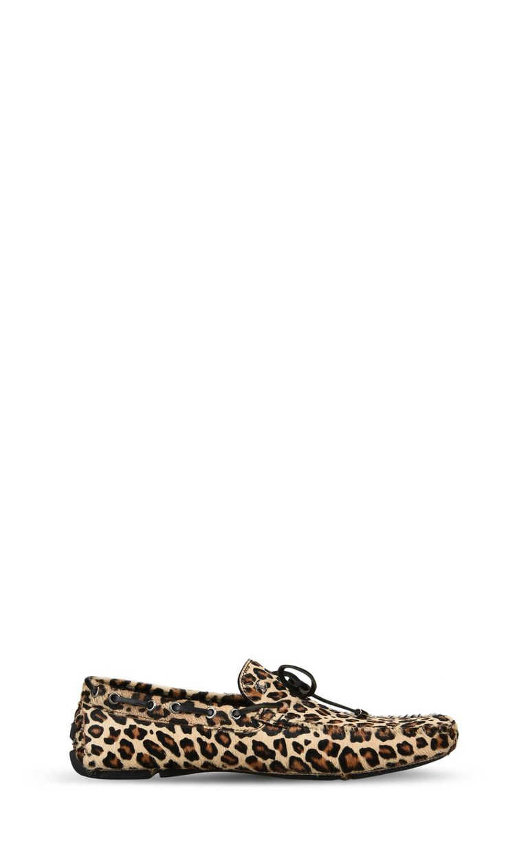 JUST CAVALLI Leopard-print loafer Moccassins Man f