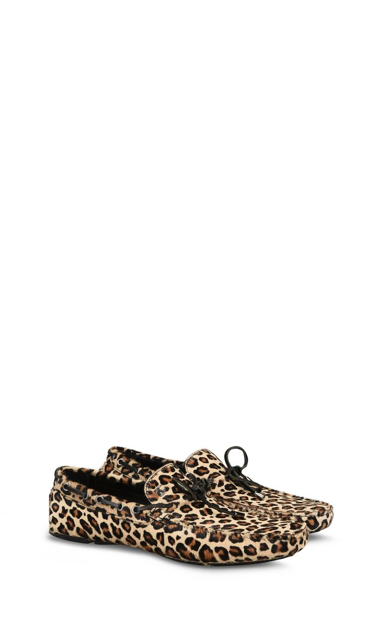 JUST CAVALLI Leopard-print loafer Moccassins Man r