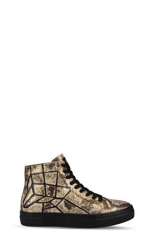 Python-effect high-top sneaker
