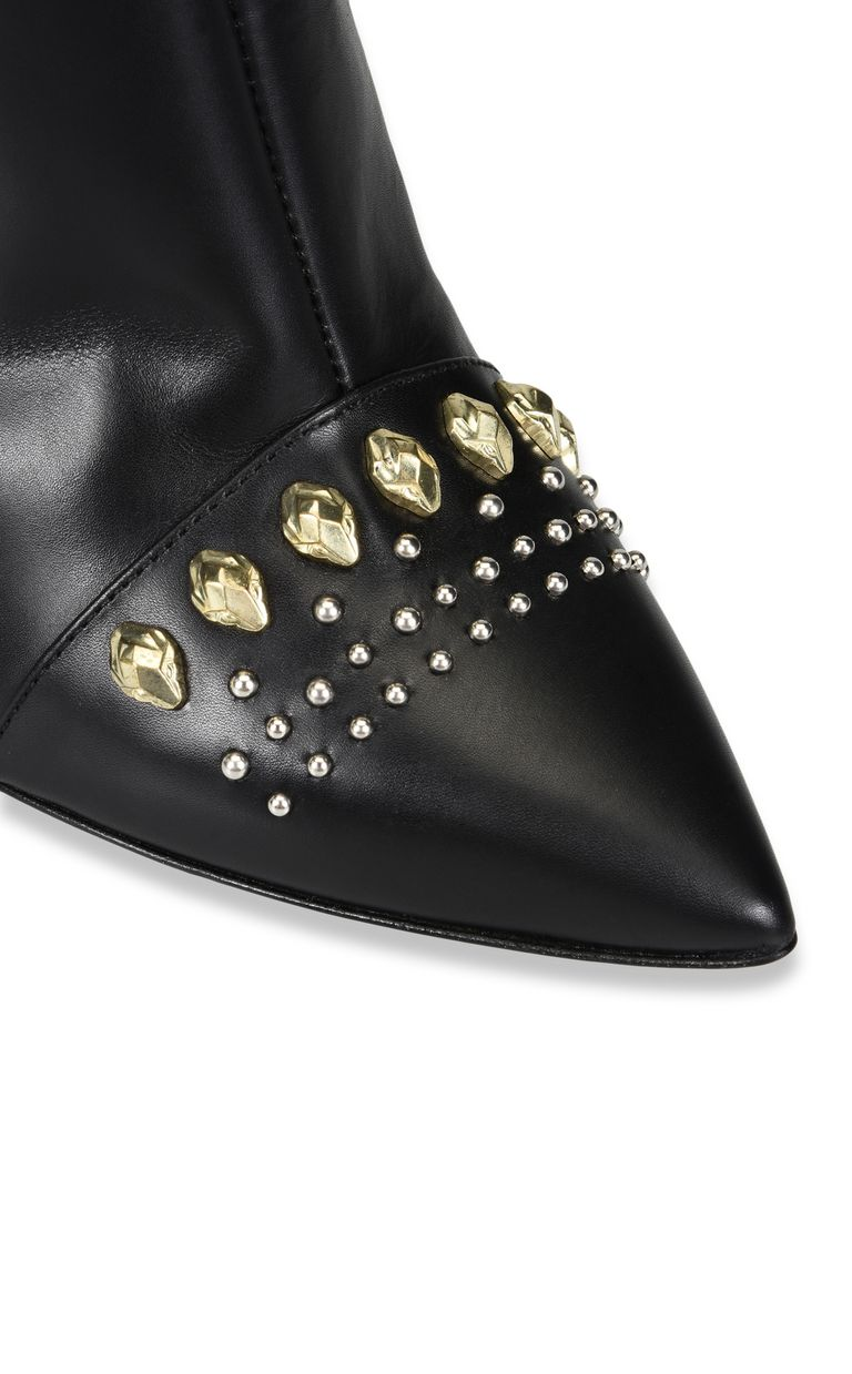 JUST CAVALLI High leather ankle boot with studs Ankle boots Woman e