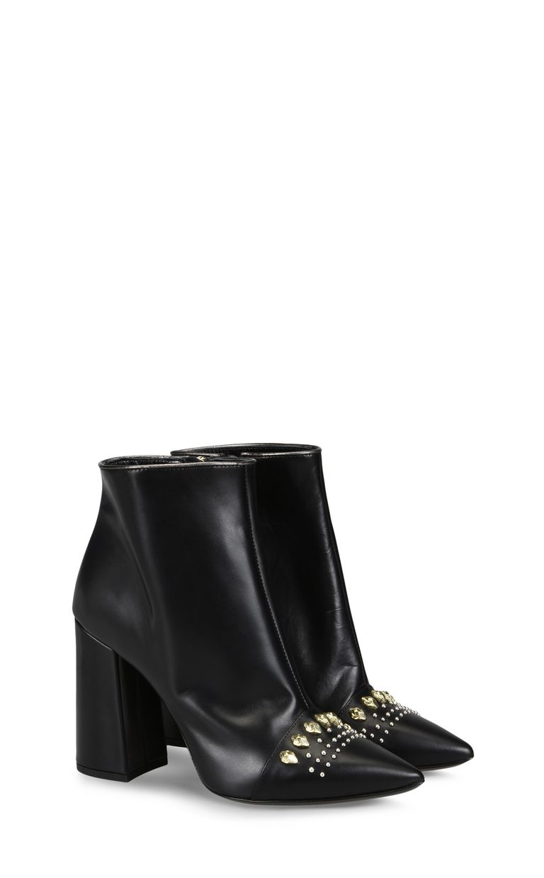 JUST CAVALLI High leather ankle boot with studs Ankle boots Woman r