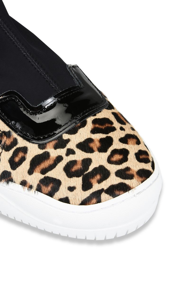 JUST CAVALLI Stretch-detail leopard sneaker Sneakers Woman e