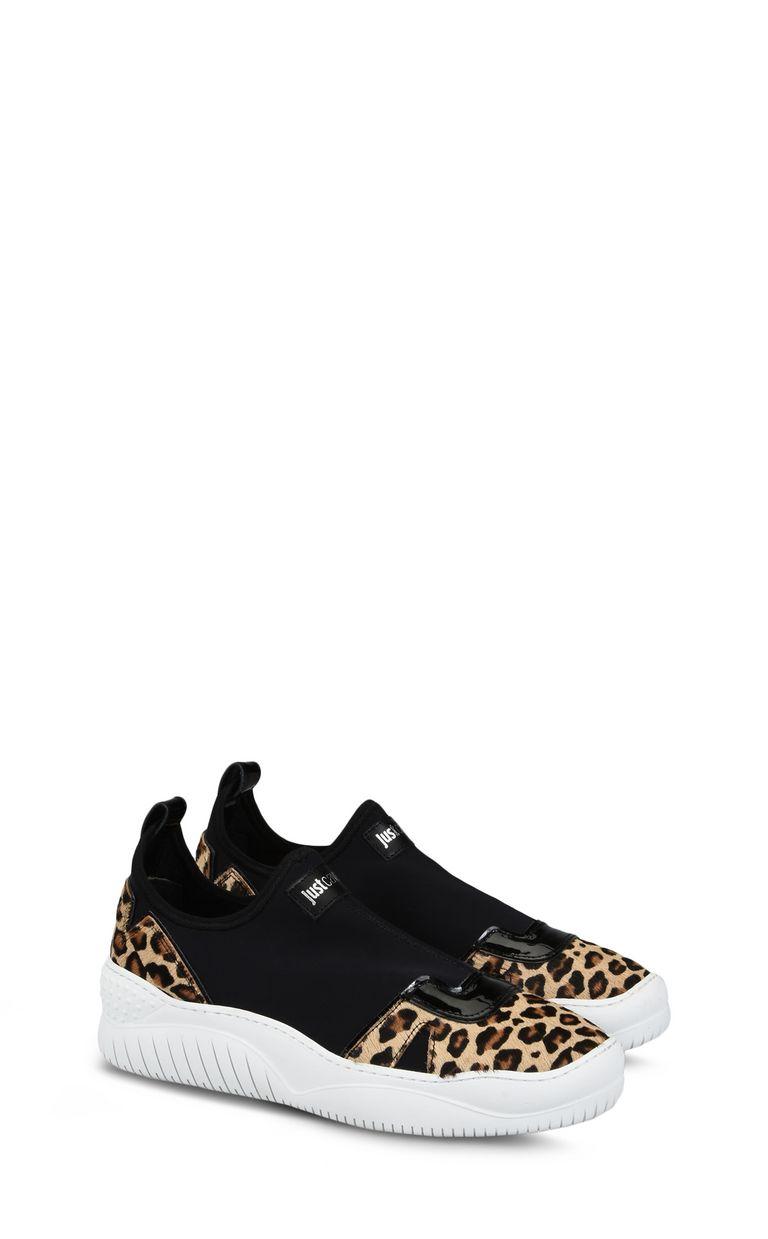 JUST CAVALLI Stretch-detail leopard sneaker Sneakers Woman r