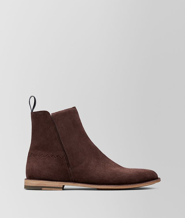 BOTTEGA VENETA DARK BAROLO SUEDE VOORTREKKING JAG ANKLE BOOT Boots and ankle boots [*** pickupInStoreShippingNotGuaranteed_info ***] fp