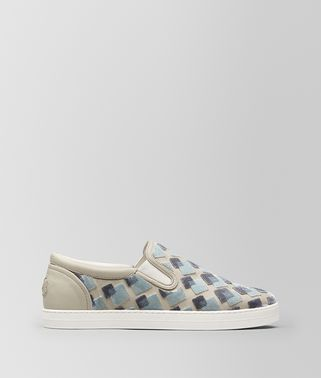 SNEAKERS DODGER EN VELOURS/CUIR NAPPA CEMENT