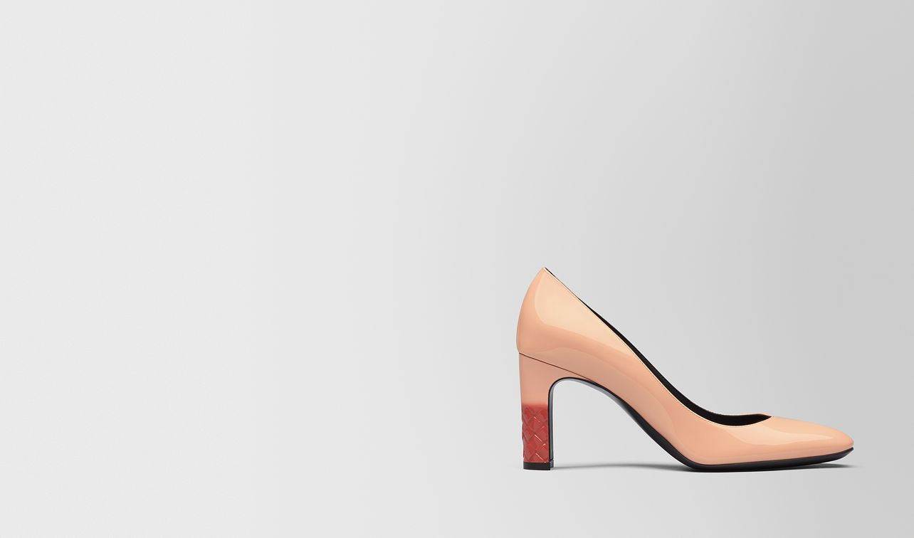 isabella pumps aus kalbslackleder in peach rose landing
