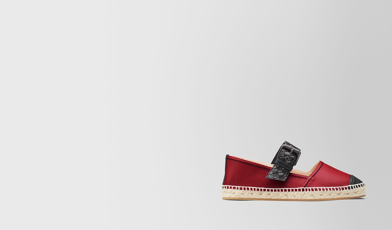 espadrille aus nappa in china red nero landing