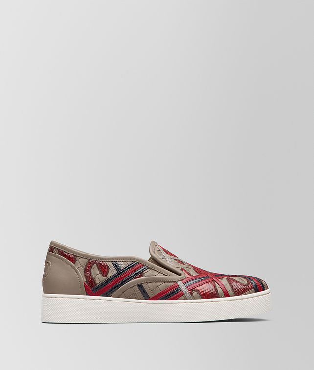 BOTTEGA VENETA CHINA RED MULTIMATERIAL SAIL SNEAKER Trainers [*** pickupInStoreShipping_info ***] fp