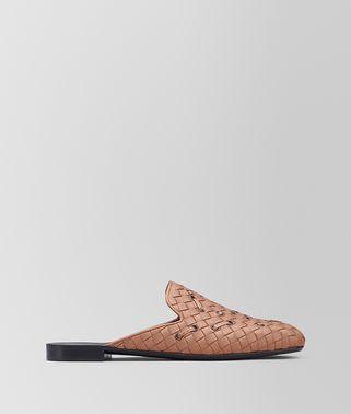 天竺牡丹粉编织小羊皮/淡水蛇皮FIANDRA便鞋