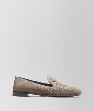 石灰色编织小羊皮/淡水蛇皮FIANDRA便鞋