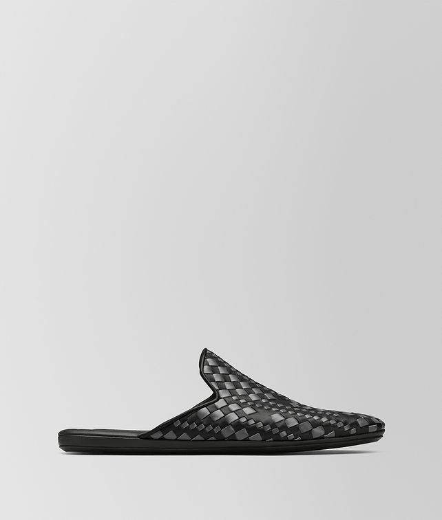 BOTTEGA VENETA NERO CALF FIANDRA SLIPPER Mocassin or Slipper Man fp