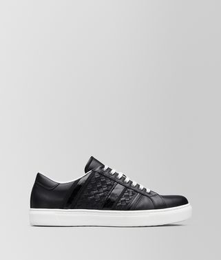 SNEAKER BV TECH STRIPE IN VITELLO NERO