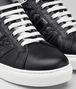nero calf bv tech stripe sneaker Front Detail Portrait
