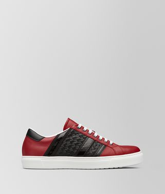 SNEAKER BV TECH STRIPE IN VITELLO CHINA RED