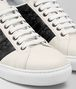 mist calf bv tech stripe sneaker Front Detail Portrait