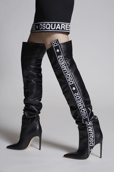 DSQUARED2 Bronx Hip Hop Dsquared2 Tape Heeled Boots 靴子 女士