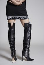 DSQUARED2 Bronx Hip Hop Dsquared2 Tape Heeled Boots Boot Woman