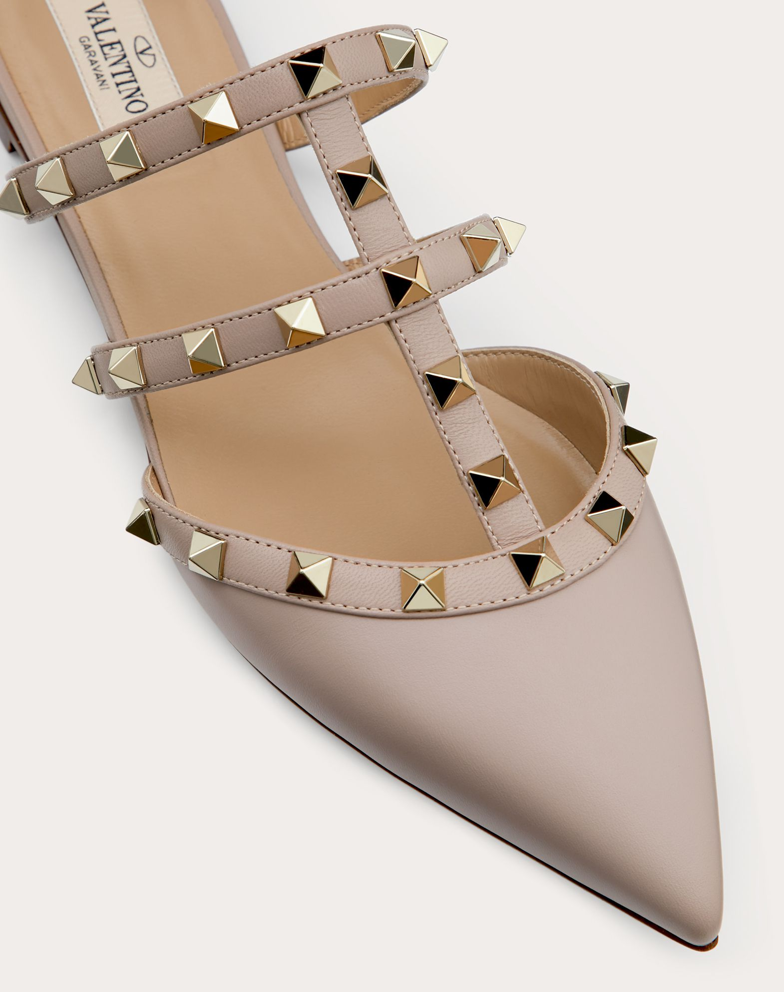 VALENTINO Studs Solid colour Leather sole Narrow toeline Flat  11487395gc