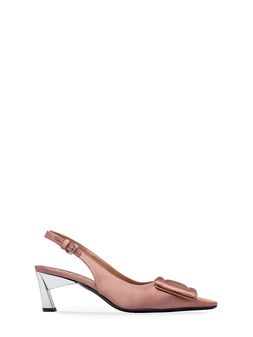 Marni Satin sandal with ankle strap Woman