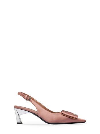 Marni Sling-back sandal in satin Woman