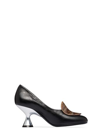 Marni Nappa leather pump with resin ornament Woman