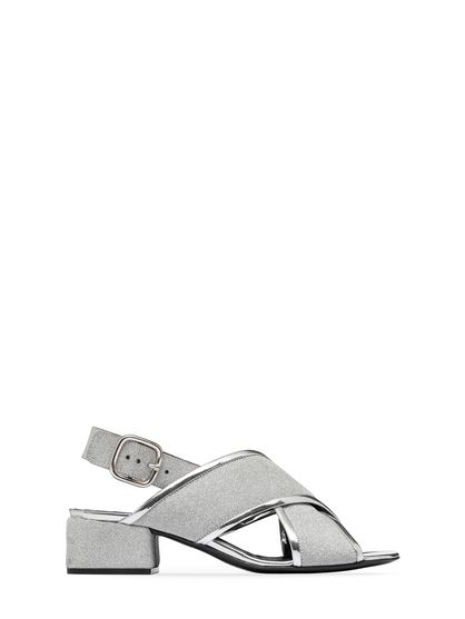 8664b9a96b4 MARNI Sandals Woman Sandal in glitter leather with squared heel f
