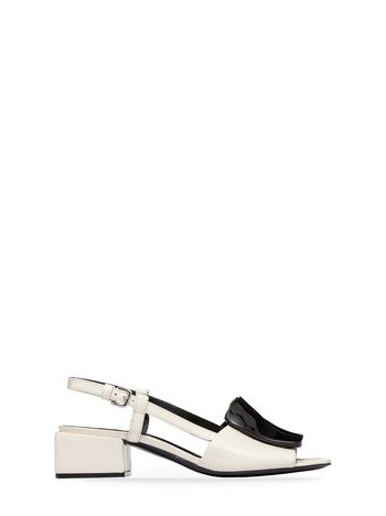 Marni  Nappa leather sandal with resin ornament Woman